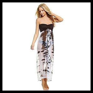 Collection Eighteen Strapless Sheer Coverup